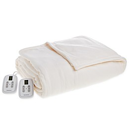 Brookstone® Fleece Heated Blanket in Cream