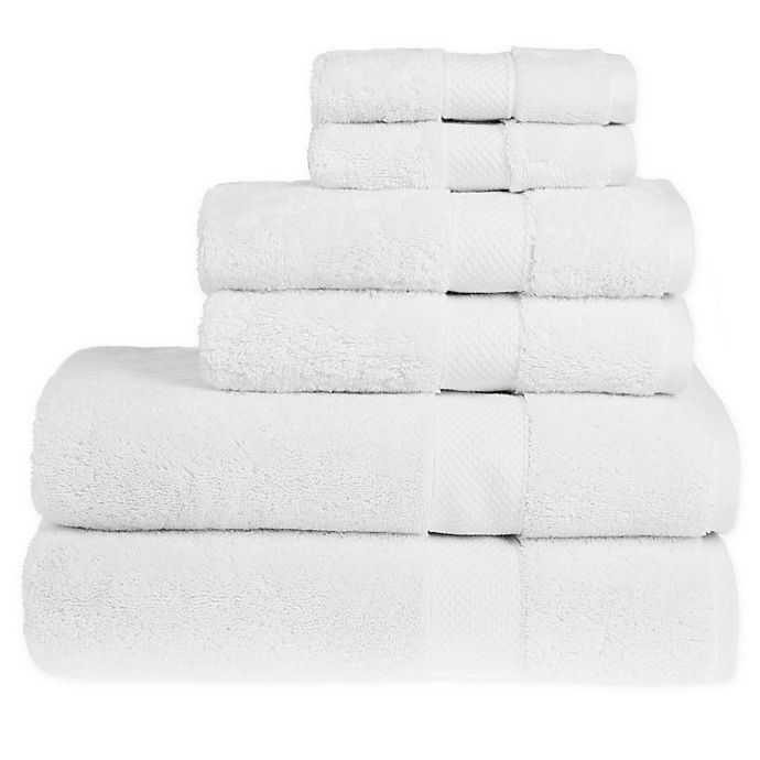 Alternate image 1 for Wamsutta® Egyptian Cotton Bath Towels in White (Set of 6)