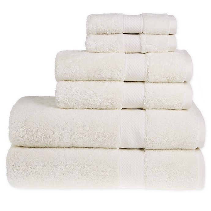 Alternate image 1 for Wamsutta® Egyptian Cotton Bath Towels in Ivory (Set of 6)