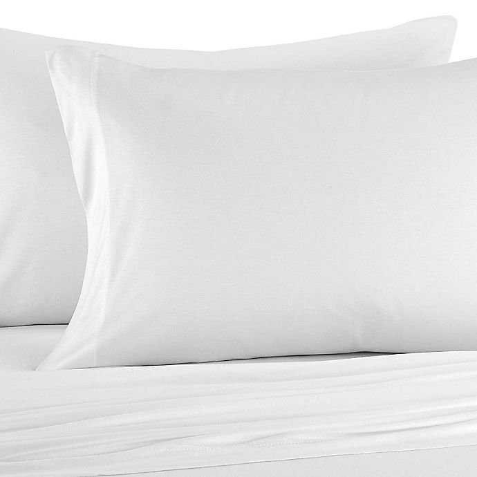 Alternate image 1 for Pure Beech® Jersey Knit Modal Pillowcases in White (Set of 2)