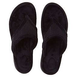Brookstone® Small Thong Slippers in Black