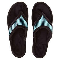Brookstone® Small Thong Slippers in Aqua
