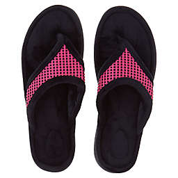 Brookstone® Small Thong Slippers in Pink