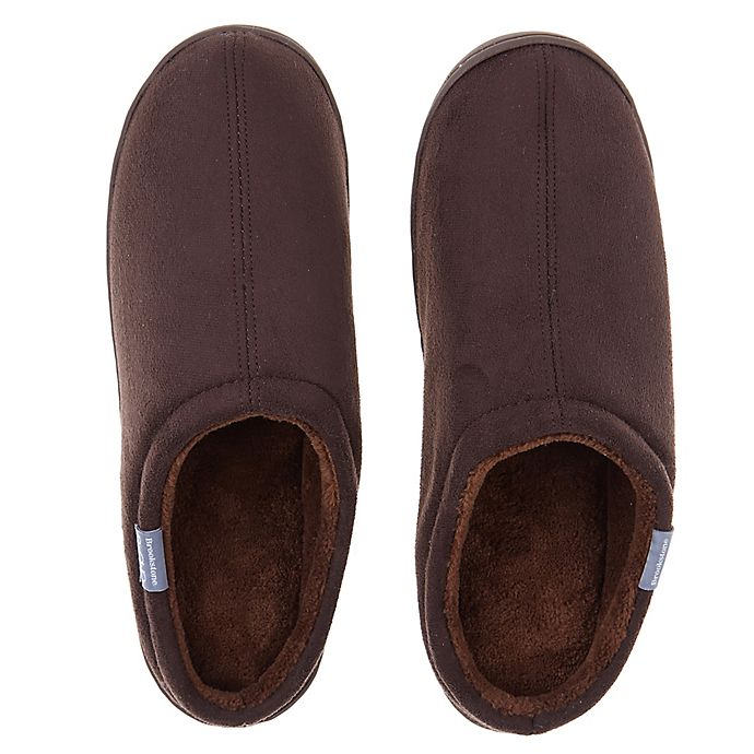 Alternate image 1 for Brookstone® Classic Slip-On Slippers in Chocolate