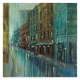 Marmont Hill Street Reflection 18-Inch x 18-Inch Canvas Wall Art