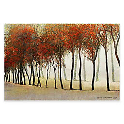Marmont Hill Row of Trees in Red 60-Inch x 40-Inch Canvas Wall Art