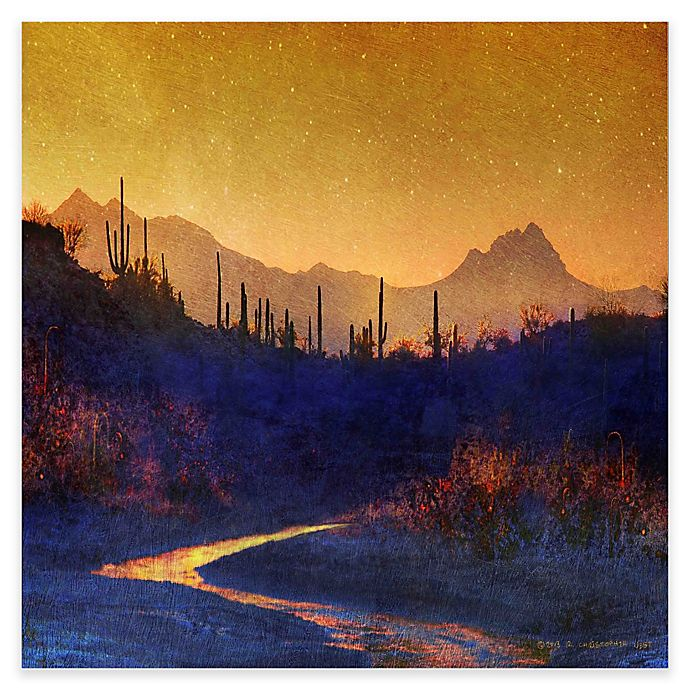 Alternate image 1 for Marmont Hill Sunset Saguaros 32-Inch Square Canvas Wall Art