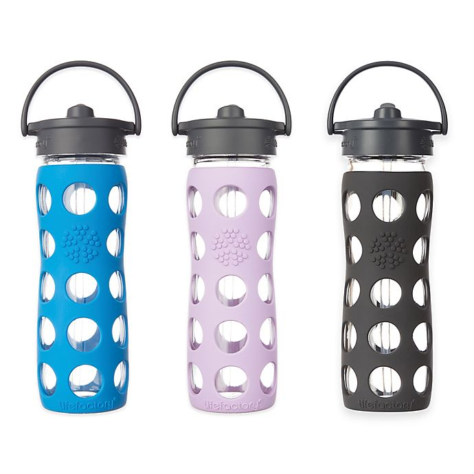 Alternate image 1 for Lifefactory® Glass Water Bottle with Straw Cap