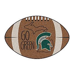 """Michigan State University 20.5"""" x 32.5"""" Southern Style Football Mat"""