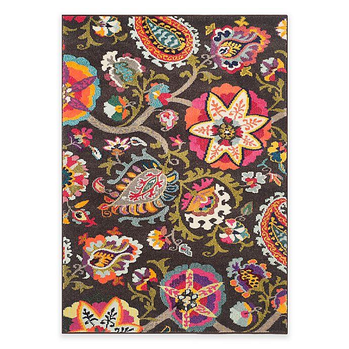 Alternate image 1 for Safavieh Monaco Floral 3-Foot x 5-Foot Area Rug in Brown Multi