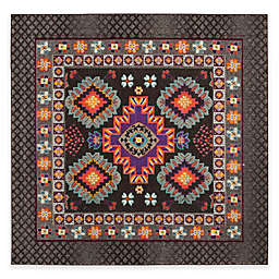 Safavieh Monaco Thane 6-Foot 7-Inch Square Area Rug in Brown Multi