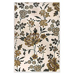 Westwood Floral Washable Area Rug in Ivory