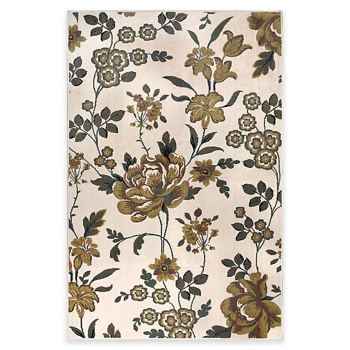 Alternate image 1 for Home Dynamix Westwood Floral Washable Area Rug in Ivory