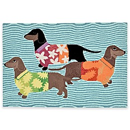 Trans-Ocean Front Porch Tropical Hounds Accent Rug