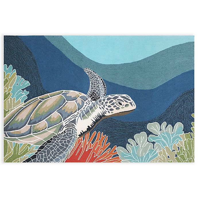 Alternate image 1 for Trans-Ocean Ravella Akumel Ocean 8-Foot x 11-Foot Indoor/Outdoor Rug in Blue