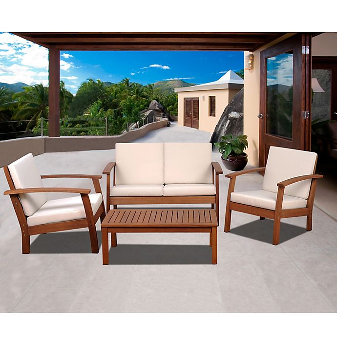 Alternate image 1 for Amazonia Guadalupe 4-Piece Conversation Set in White