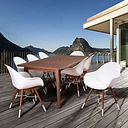 Amazonia Chamonix 9-Piece Outdoor Dining Set in White