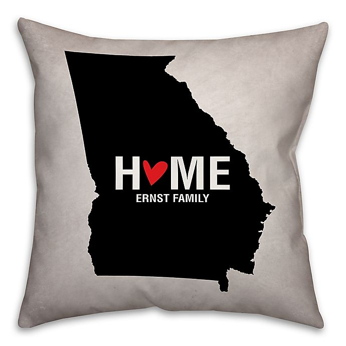Alternate image 1 for Georgia State Pride 16-Inch x 16-Inch Square Throw Pillow in Black/White