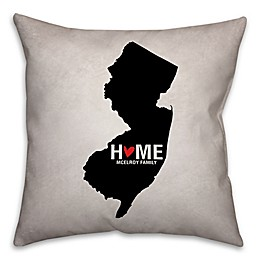 State Pride 16-Inch x 16-Inch Square Throw Pillow Collection in Black/White