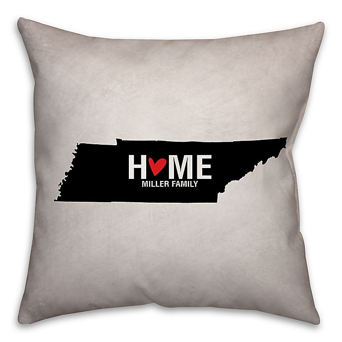 Tennessee State Pride 16 Inch X 16 Inch Square Throw Pillow In Black White Buybuy Baby