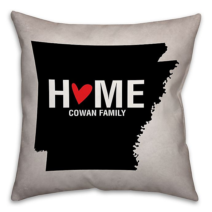 Alternate image 1 for Arkansas State Pride Square Throw Pillow in Black/White
