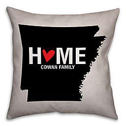 Arkansas State Pride Square Throw Pillow in Black/White