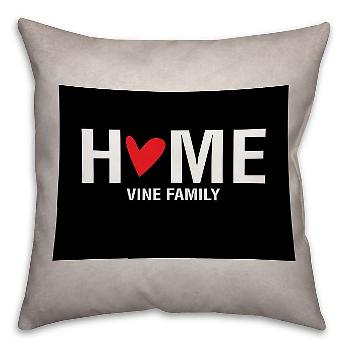 Alternate image 1 for Colorado State Pride Square Throw Pillow in Black/White