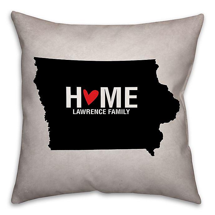 Alternate image 1 for Iowa State Pride Square Throw Pillow in Black/White