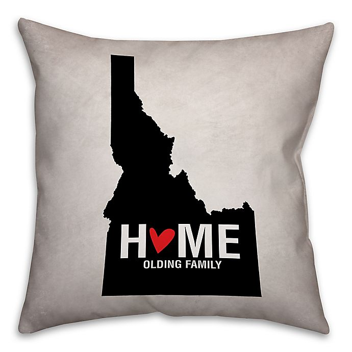 Alternate image 1 for Idaho State Pride Square Throw Pillow in Black/White