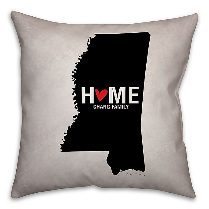 Alternate image 1 for Mississippi State Pride Square Throw Pillow in Black/White
