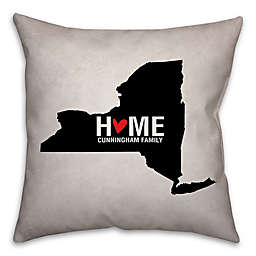 State Pride Square Throw Pillow Collection