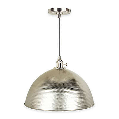 Mini-Pendant Fitter and Swag Light in Vintage Brushed Nickel