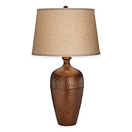 Pacific Coast® Lighting Zarah Table Lamp in Hammered Copper-Autumn Gold