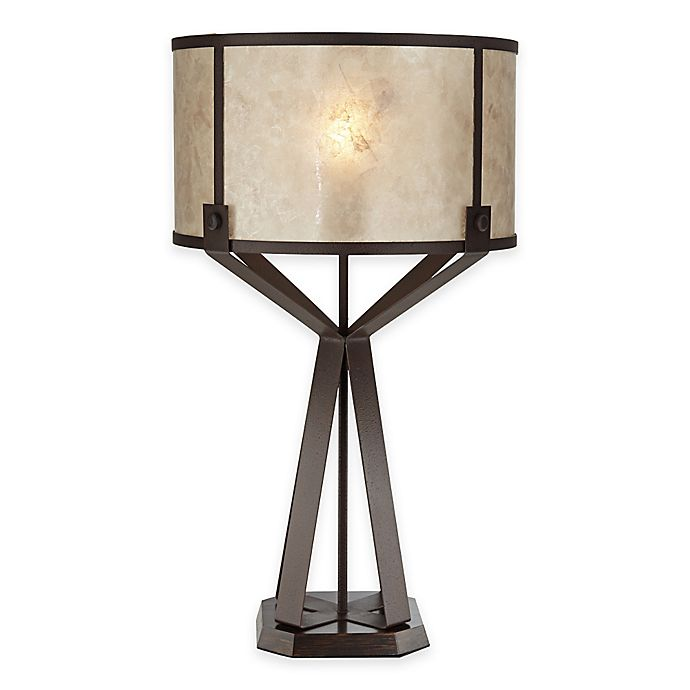 Alternate image 1 for Pacific Coast® Lighting Jasper Table Lamp with Micah Shade