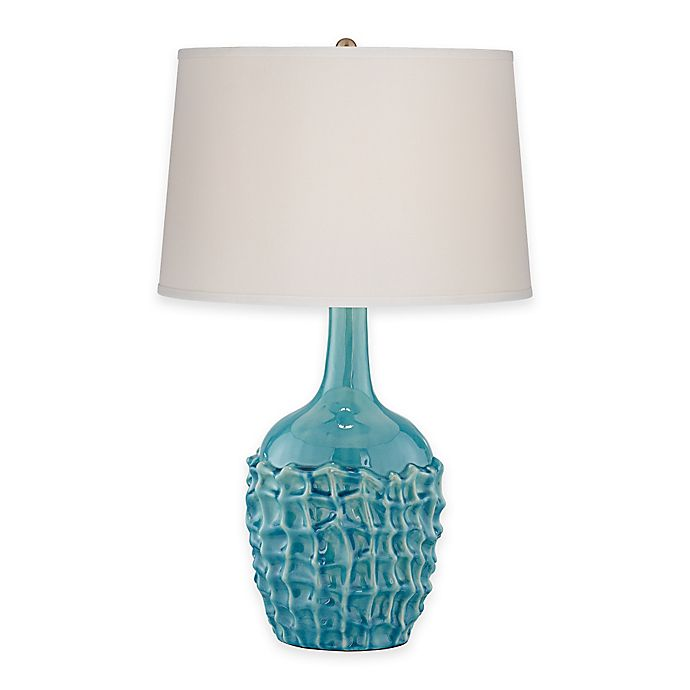 Alternate image 1 for Pacific Coast® Lighting Kathy Ireland® Basket Weave Table Lamp