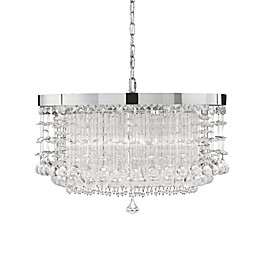 Uttermost Fascination 3-Light Ceiling Mount Crystal Chandelier in Silver
