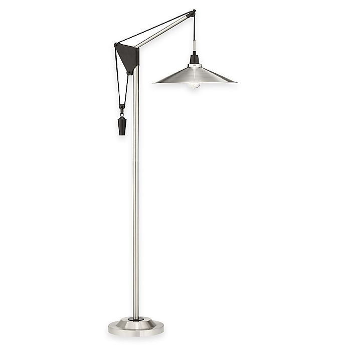 Alternate image 1 for Pacific Coast® Lighting Industrial Pulley Floor Lamp