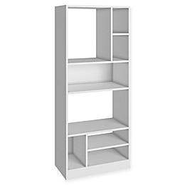 Manhattan Comfort Valenca Bookcase 3.0 in White
