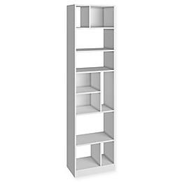 Manhattan Comfort Valenca Bookcase 4.0 in White