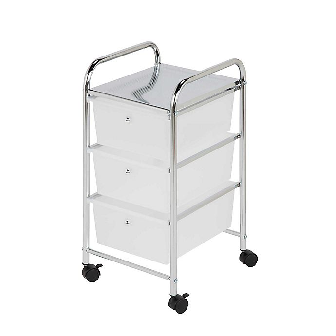 Alternate image 1 for Honey-Can-Do® Steel 3-Drawer Rolling Storage Cart