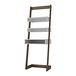 Manhattan Comfort Urbane Carpina 2-Shelf Ladder Desk Bookcase in White