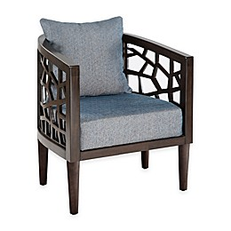 INK+IVY® Crackle Carmel Oak Lounger in Blue