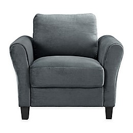 Viola Microfiber Chair in Dark Grey