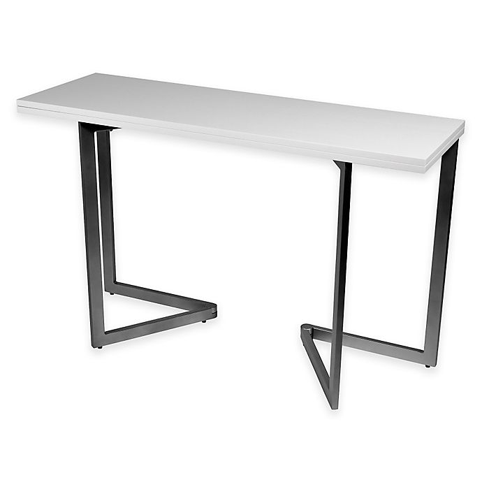 Expanding Console Dining Table In White Bed Bath Beyond,Floor Plan 2 Bedroom Apartment