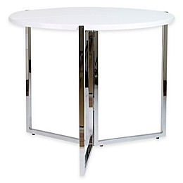 Radiant Circular Folding Table in White