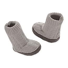 Goldbug™ Cable Knit Slipper Socks in Grey