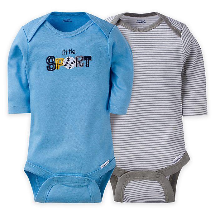 9ac77de28 Gerber® ONESIES® Brand Baby Boy Sport Long-Sleeve Bodysuit (Set of 2 ...