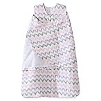 HALO® SleepSack® Newborn Chevron Muslin Multi-Way Swaddle in Pink/Grey
