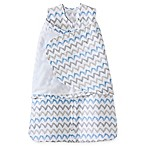 HALO® SleepSack® Small Chevron Muslin Adjustable Swaddle in Blue/Grey