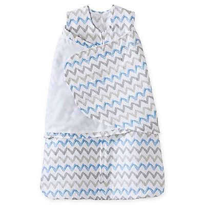 HALO® SleepSack® Chevron Muslin Adjustable Swaddle in Blue/Grey